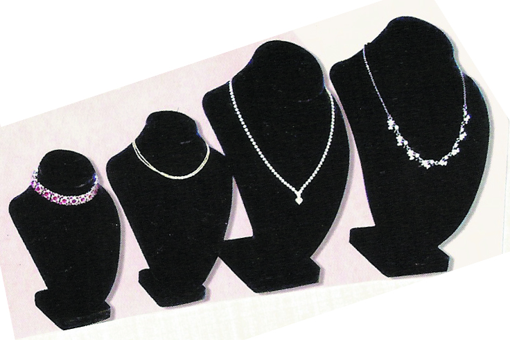 Jewelry Display JDN Neck BLK-515